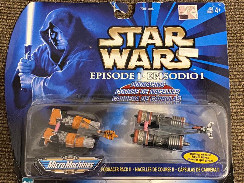 1998 Star Wars Episode 1 Micro Machines Pod Racer Pack II Pod Racing NEW
