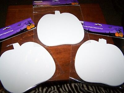 White Paper Halloween Crafts (New Halloween Kids Crafts Card Paper Shapes Pumpkins Lot 36 6