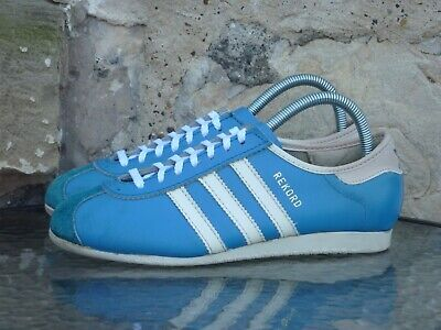 Vintage Adidas Rekord UK 6 Made In Roumania Blue White 70s 80s Rare