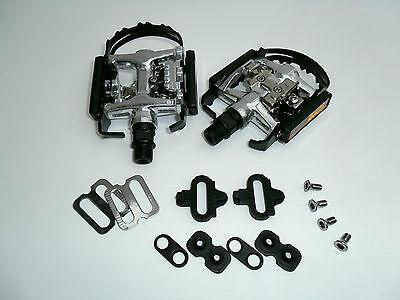 Pedali DOPPIA FUNZIONE ( con tacchette compatibili Shimano) bici / mtb /...