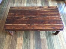 Wrought iron detailed wood coffee table Centennial Park Eastern Suburbs Preview