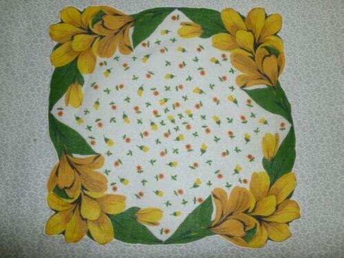 UNIQUE Lily Hanky-Vintage Hankie / Bridal Wedding Handkerchief Fall Foliage