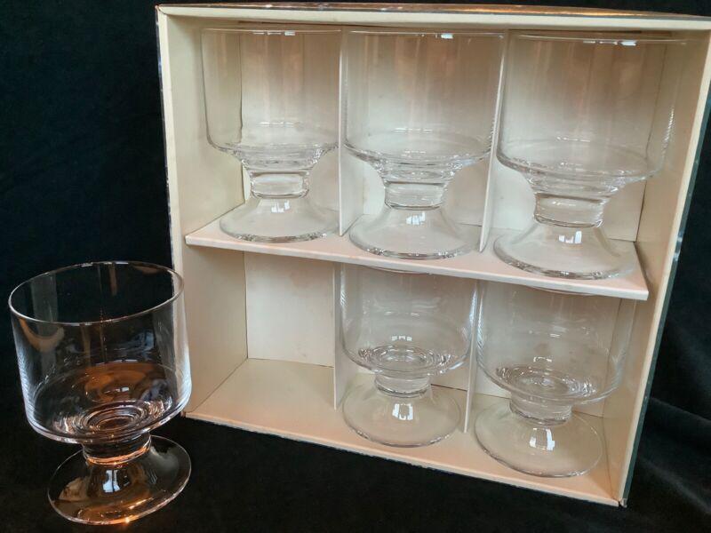 Vintage Clear iitala Tapio Wirkkala 8 Oz. Wine Glasses Water Goblet Made Finland