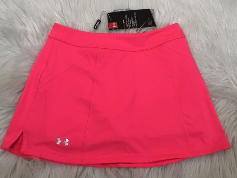 NWT Under Armour Golf Girls Ace Skort - 5042 PINK - UY7559 MSRP $50 NEW