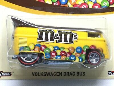 Hot Wheels M&M's Volkswagen Drag Bus.  Real riders.