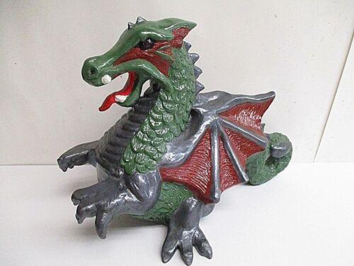 "Vintage Hand Painted Ceramic Dragon 12"" x 8.5"" tall, Nowells Mold"