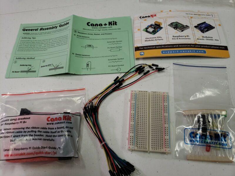 CanaKit Raspberry Pi B+(B Plus) GPIO Bundle new See Pics