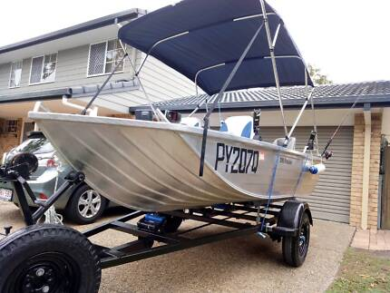 3.99m (13ft) 2006 Stacer Proline Tinnie 20hp Yamaha with Trailer
