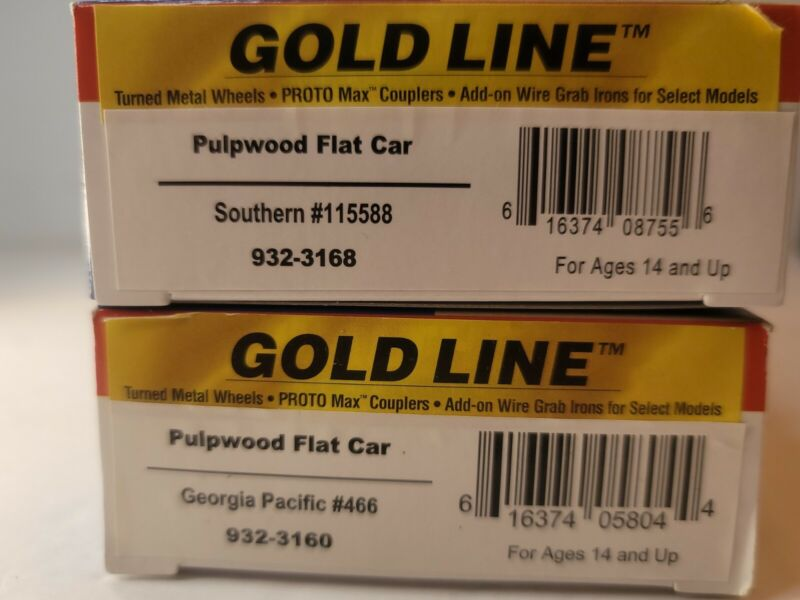 Walthers HO Pulpwood Flat Car Southern /Georgia Pacific Brown Pack 2