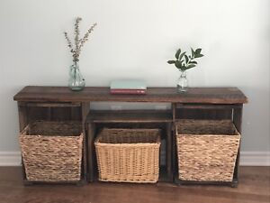 Rustic Storage Table / Bench (Can Deliver)