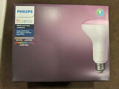 Philips - Hue White & Color Ambiance BR30 3rd Gen Smart LED Bulb - New Sealed