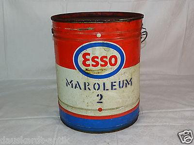ESSO Maroleum Öldose Fett Eimer Esso Tankstelle Auflösung