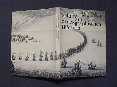 Buch, Schiffe auf druckgraphischen Blättern, Hinstorff Rostock EA 1980 DDR