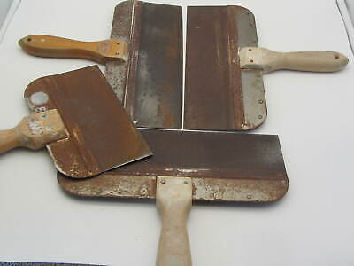 Lot Of 4 Taping Knife Filling Drywall Plastering Finishing Spatula 3- 12 1- 8