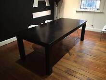 MOVING SALE Large black wooden dining table Surry Hills Inner Sydney Preview