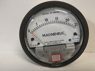 New Old Stock Dwyer Magnehelic 0-25psi Pressure Gauge 2025
