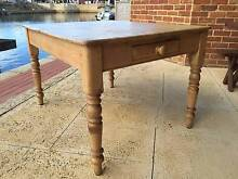 Antique Victorian Pine Kitchen Table Wannanup Mandurah Area Preview