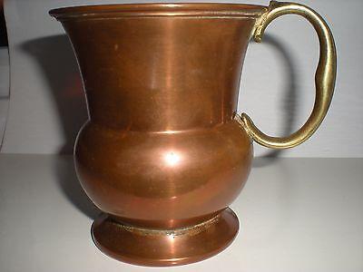 antique /vintage copper mug brass handle