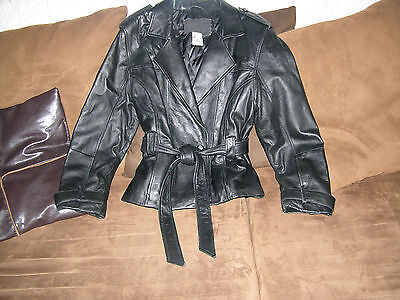 womens expressions leather jacket black size M