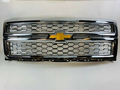 2014 2015 Chevy Silverado 1500 Front Grille Grill Chrome 22757223