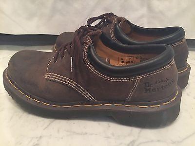 Dr. Doc Martens Leather Work Shoes ~ 8053 ~ Unisex Size 7/8 ~ CLEAN!