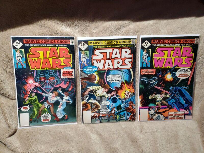 Star Wars Comics 4 5 6 35 Cents Reprint