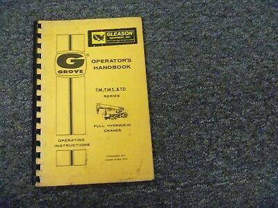 Grove Tm250 Tm650 Tm800 Tm275lp Full Hydraulic Crane Owner Operator User Manual