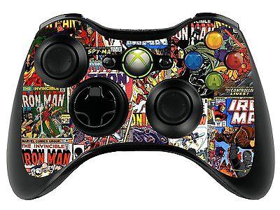 Comics Superhero Xbox 360 Remote Controller/Gamepad Skin / Cover / Vinyl  xbr8