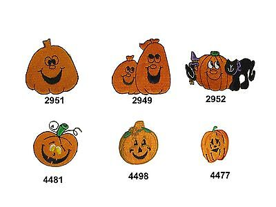 Halloween Black Cat,Pumpkin w/Smile Face Embroidery Iron On Applique Patch - Black Cat Faces Halloween