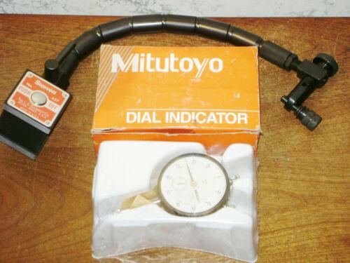 STARRETT FLEX ARM MAGNETIC BASE NO 657 w/ MITUTOYO .001 Inch DIAL INDICATOR