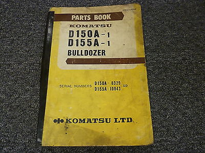 Komatsu D150a-1 D155a-1 Bulldozer Dozer Parts Catalog Manual