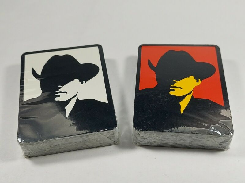 VINTAGE MARLBORO MAN CIGARETTES  PLAYING CARDS TWO DECK COWBOY ADVERTISING NEW