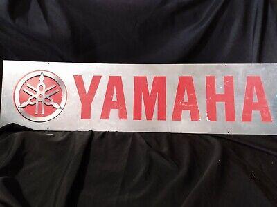 "Vintage Yamaha Metal Garage Sign. 39"" x 10"" man cave garage decor"