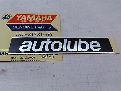 Used,  YAMAHA Autolube Decal Sticker AS1 HS1 YL1 YL2 YR1 YR3 CS2 YM2 YA6 NOS GENUINE for sale  Shipping to South Africa