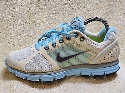 Nike Lunarglide 2 Flywire Ladies trainers White/Blue-Aqua/Grey UK 4 EUR 37.5