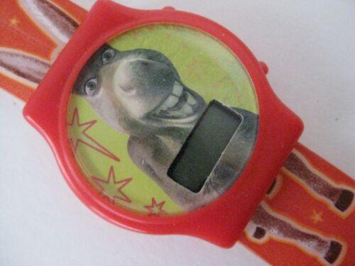 Shrek 2 Movie Watch Donkey Red Stars Design Wristwatch Digital