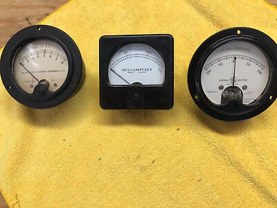 3 Vintage Steampunk Meters Weston Ge And Marion True Vintage Quality