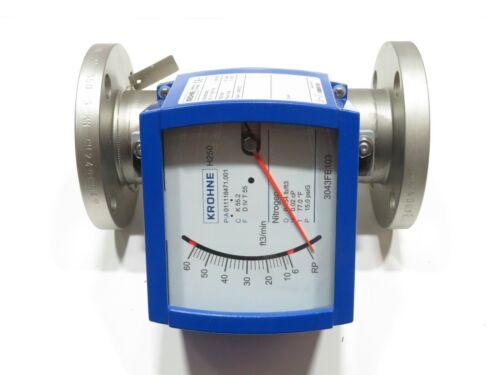 """2"""" Krohne H250/RR/M9/K2 CL150 Stainless Steel Variable Area Flowmeter K 55.2 NEW"""