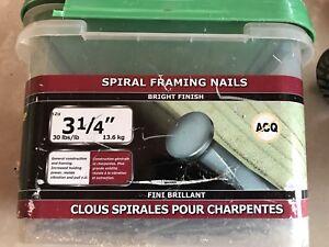 Framing nails and screws