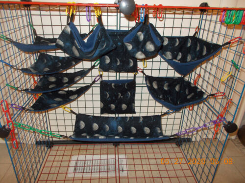 MOON  PHASES  Sugar Glider 11 pc cage set