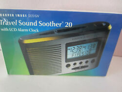Sharper Image Travel Sound Soother 20 Sound SI601 Alarm Clock FACTORY SEALED