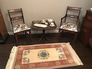 Newmarket: Three Piece Antique Chair and Table Set