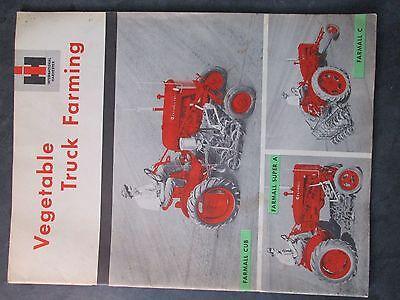 Farmall Ih Cub C Super A Tractor Vegetable Truck Farming Literature