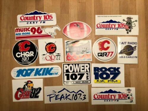 15 Different Vintage Radio Station Stickers - variations
