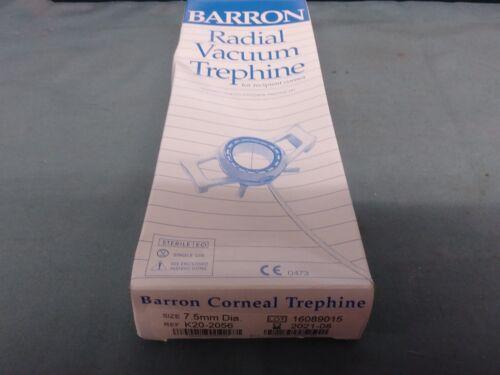 ONE KATENA K20-2056 BARRON RADIAL VACUUM TREPHINE CORNEAL 7.5MM DIA IN DATE LAB