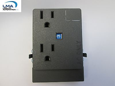 2x Haworth Prd-3b Receptacle Duplex Outlet Gray For Cubicle New