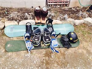 Snowboards and accessories for sale