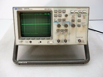 Hp Agilent 54603b 2 Channel 60mhz Oscilloscope W 54652b Rs-232 Interface Module