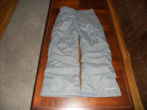 Columbia boys snow pants size S small MINT cond gray winter