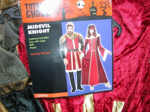 NWT NEW Halloween Costume Adult Medieval Knight Men